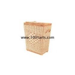 Cesto rectangular em vime para roupa suja