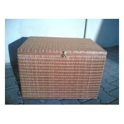 Arca de vime - palhinha forro de madeira